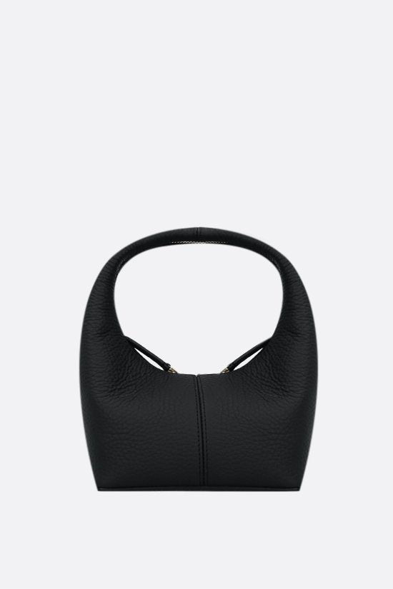 FRENZLAUER: borsa a mano Panier mini in pelle martellata Colore Nero_1