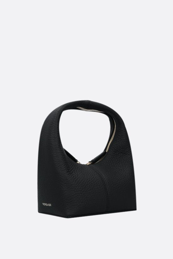 FRENZLAUER: Panier mini grainy leather handbag Color Black_2