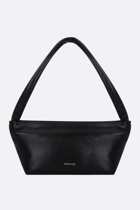 FRENZLAUER: Bateau soft nappa shoulder bag Color Black_1