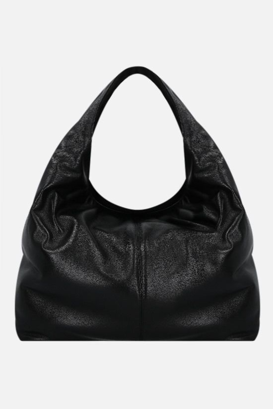 FRENZLAUER: Softie soft nappa hobo bag Color Black_1