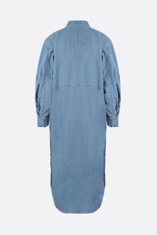 GANNI: oversize denim shirt dress Color Blue_2