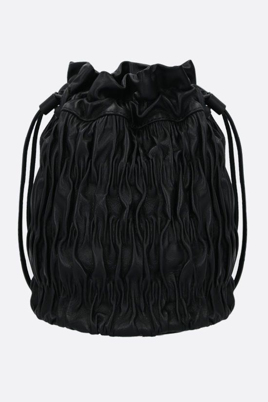 GANNI: quilted nappa bucket bag Color Black_1