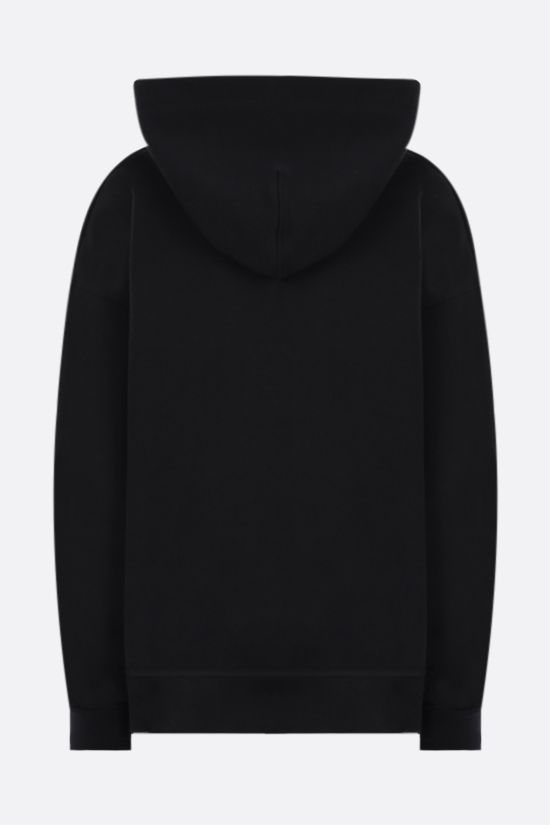 GANNI: Software Isoli oversize cotton blend hoodie Color Black_2