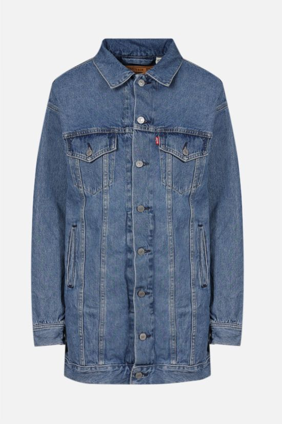 GANNI: oversize denim jacket Color Blue_1