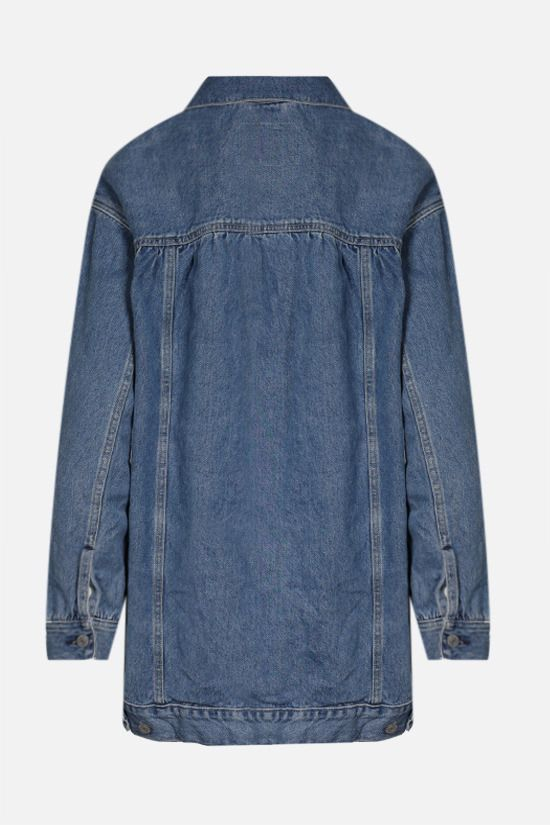GANNI: oversize denim jacket Color Blue_2