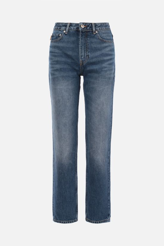 GANNI: regular-fit straight-leg jeans Color Blue_1