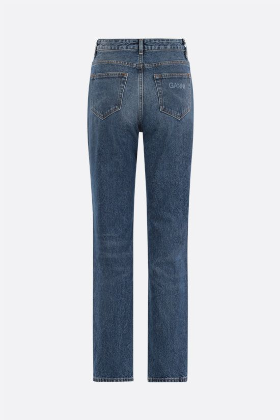 GANNI: regular-fit straight-leg jeans Color Blue_2