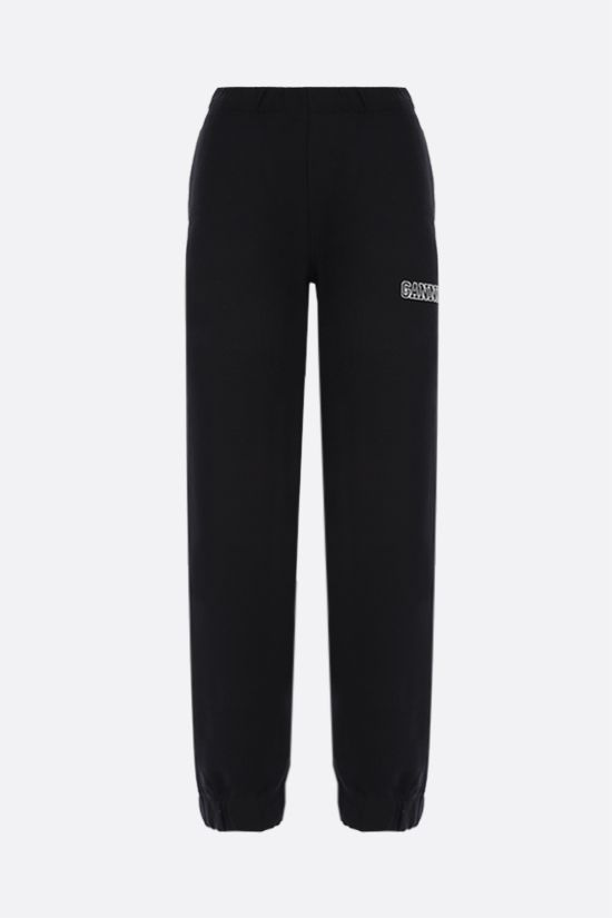 GANNI: Software Isoli cotton blend joggers Color Black_1