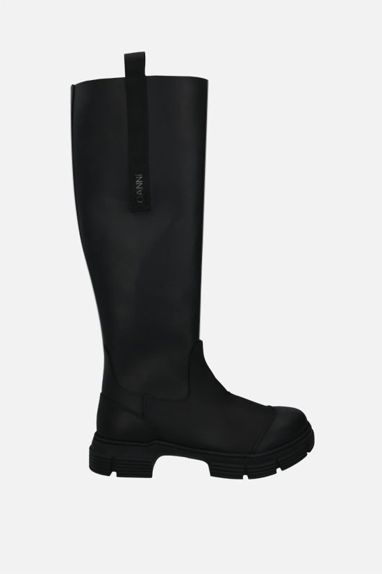 GANNI: recycled rubber boots Color Black_1
