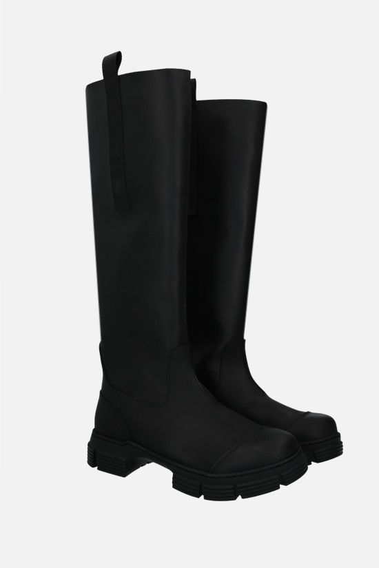 GANNI: recycled rubber boots Color Black_2