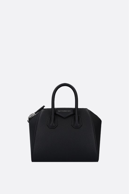 GIVENCHY: borsa a mano Antigona Mini in pelle martellata Colore Nero_1