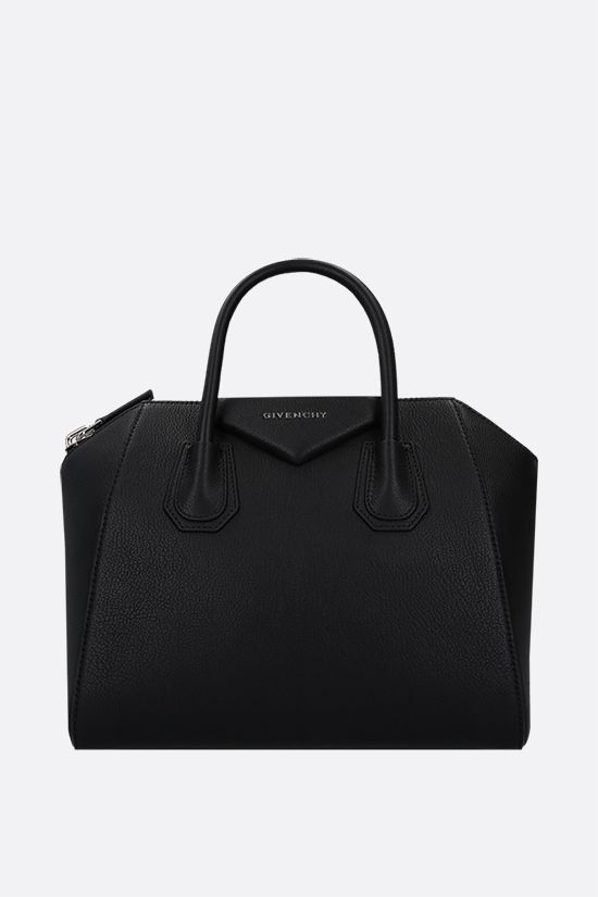 GIVENCHY: borsa a mano Antigona small in pelle martellata Colore Nero_1