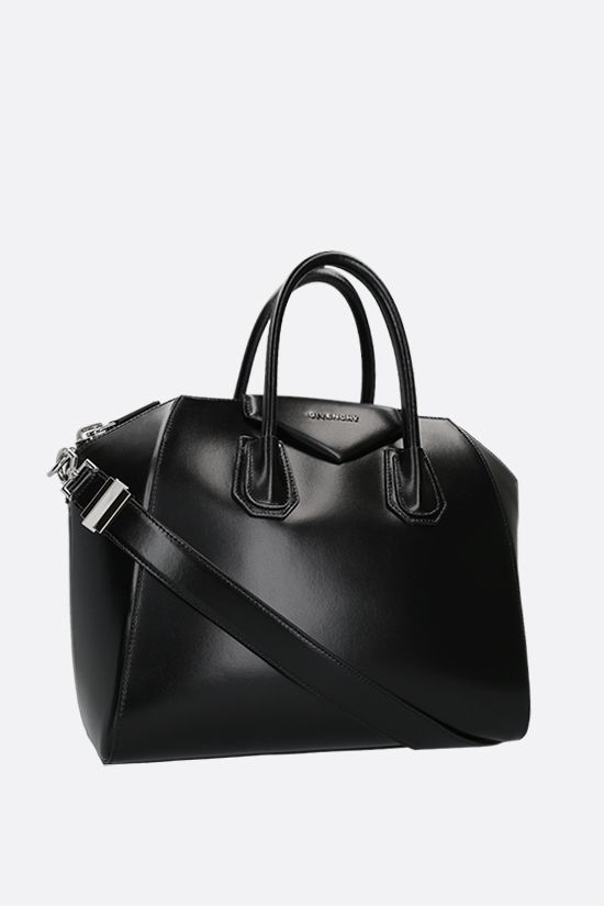 GIVENCHY: borsa a mano Antigona small in pelle lucida Colore Nero_2