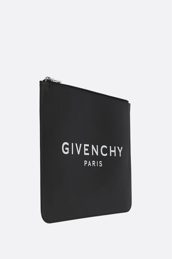 GIVENCHY: busta large Givenchy Paris in pelle liscia Colore Nero_2