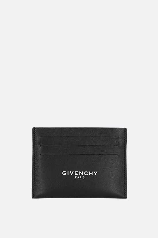 GIVENCHY: Givenchy Paris smooth leather card case Color Black_1