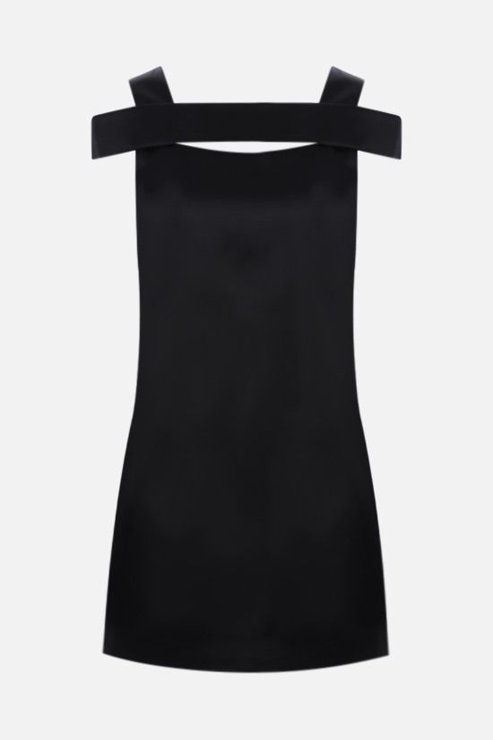 GIVENCHY: satin minidress Color Black_1