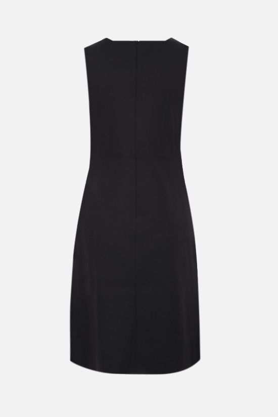 GIVENCHY: zip-detailed technical jersey short dress Color Black_2