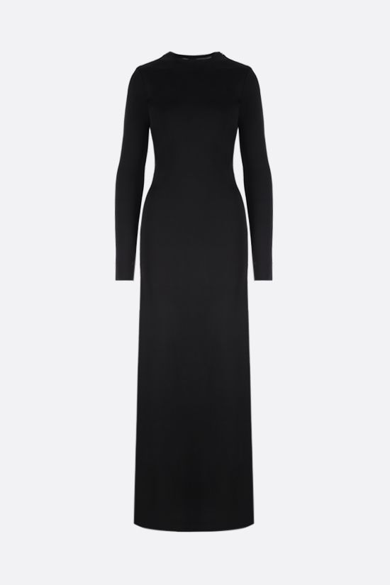 GIVENCHY: cut-out technical jersey long dress Color Black_1