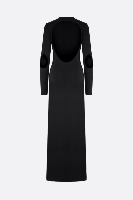 GIVENCHY: cut-out technical jersey long dress Color Black_2