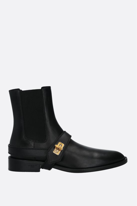 GIVENCHY: Eden smooth leather chelsea boots Color Black_1