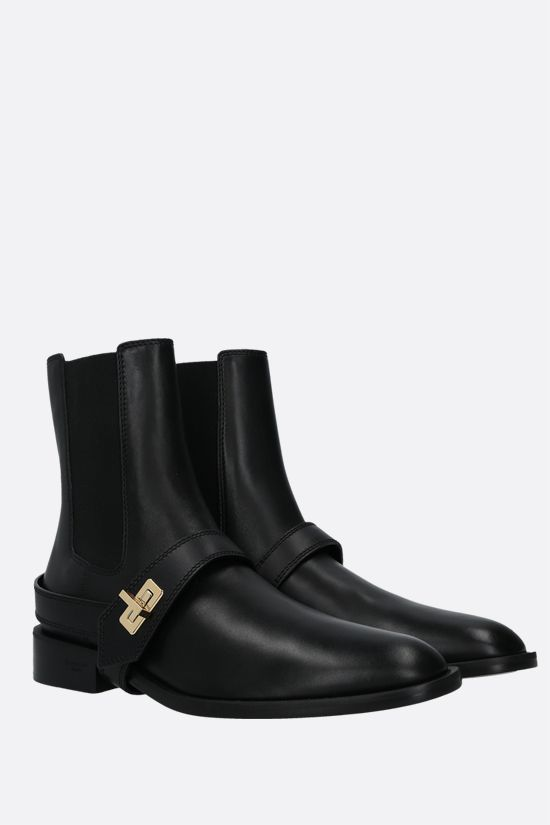 GIVENCHY: Eden smooth leather chelsea boots Color Black_2