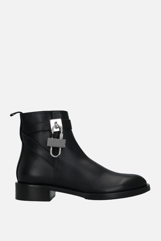 GIVENCHY: Lock smooth leather ankle boots Color Black_1