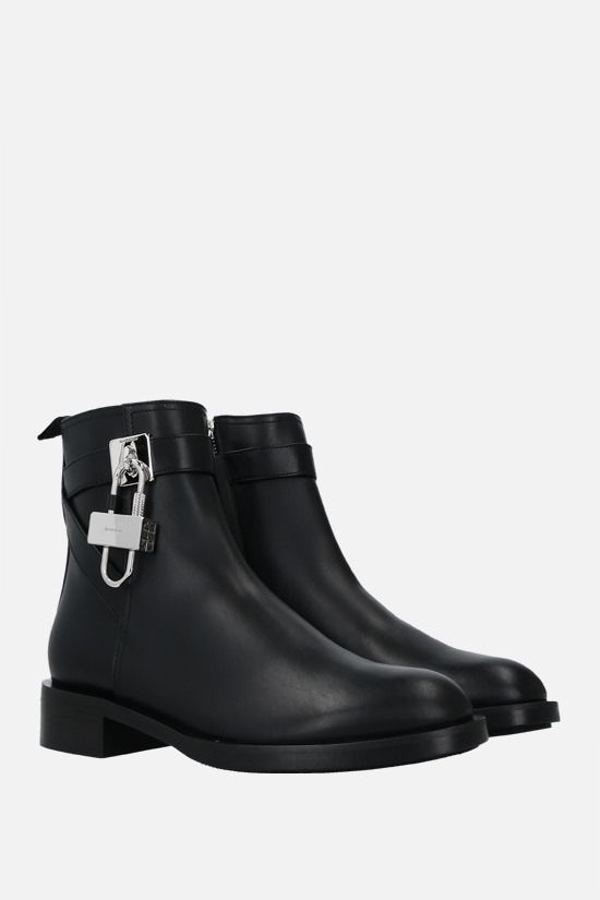 GIVENCHY: Lock smooth leather ankle boots Color Black_2