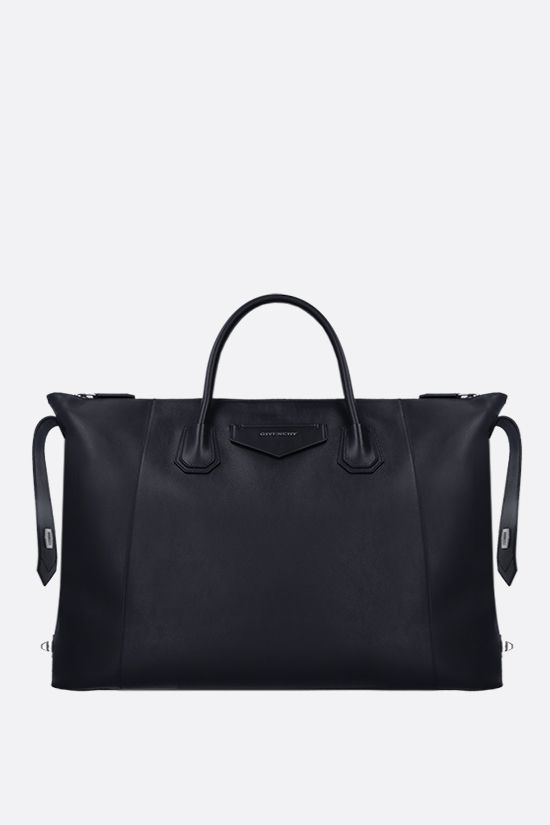 GIVENCHY: borsa a mano Antigona Soft media in pelle liscia Colore Blu_2