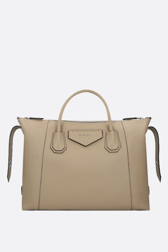 GIVENCHY: borsa a mano Antigona Soft media in pelle liscia Colore Neutro_2
