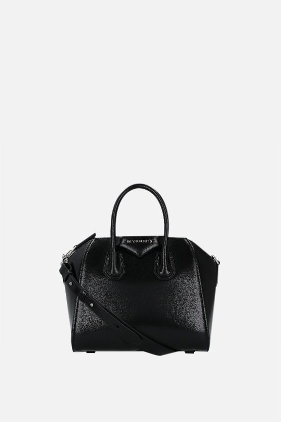 GIVENCHY: Antigona mini shiny leather handbag Color Black_2