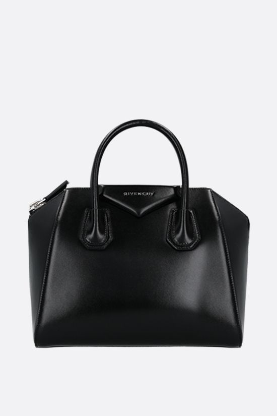 GIVENCHY: Antigona small shiny leather handbag Color Black_1