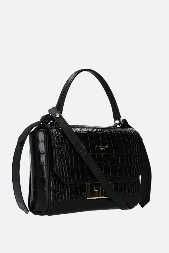 GIVENCHY: borsa a mano Eden mini in pelle stampa coccodrillo Colore Nero_2