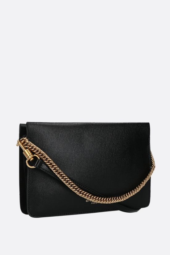 GIVENCHY: Cross3 textured leather crossbody bag Color Black_2