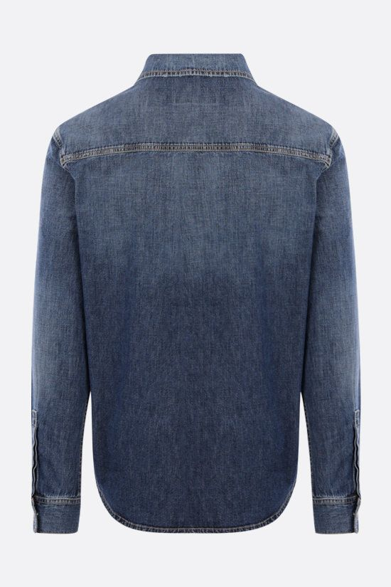 GIVENCHY: camicia in denim stampa Givenchy Adresse Colore Blu_2