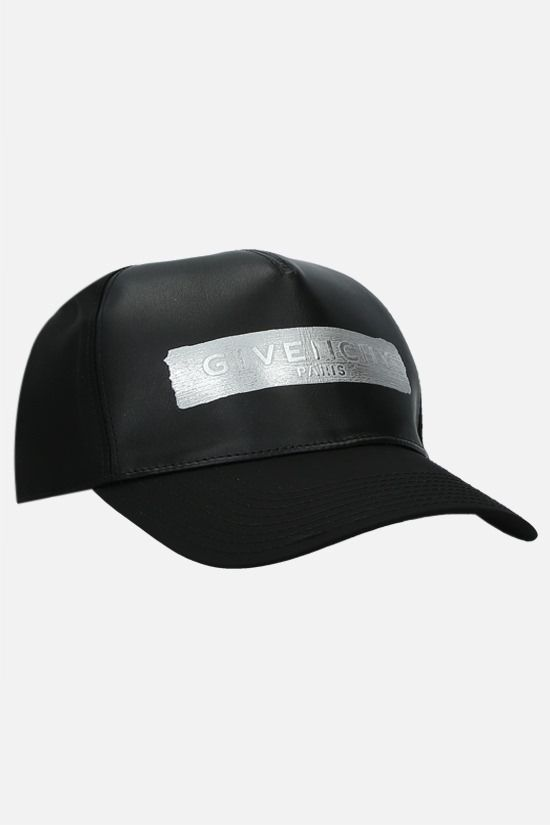 GIVENCHY: logo-detailed nylon and smooth leather baseball cap Color Black_2