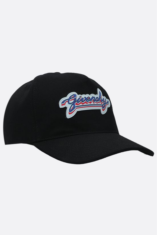 GIVENCHY: Givenchy patch cotton blend baseball cap Color Black_2