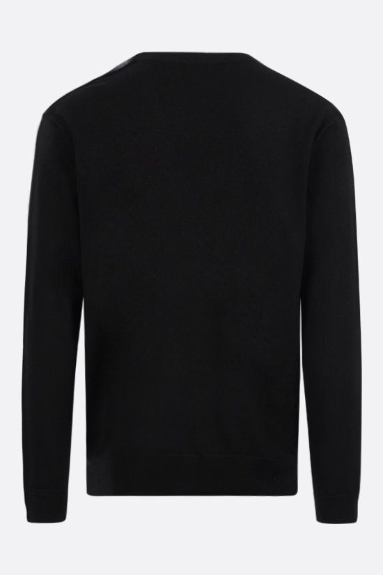 GIVENCHY: logo tape-detailed wool cardigan Color Black_2