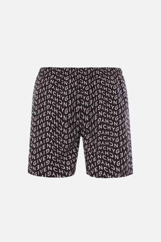 GIVENCHY: Givenchy Refracted nylon swim shorts Color Black_1