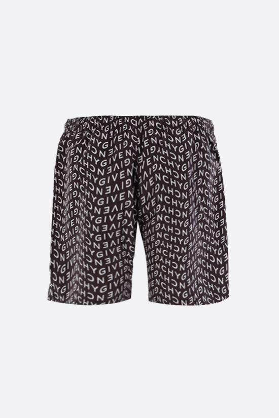 GIVENCHY: Givenchy Refracted nylon swim shorts Color Black_2