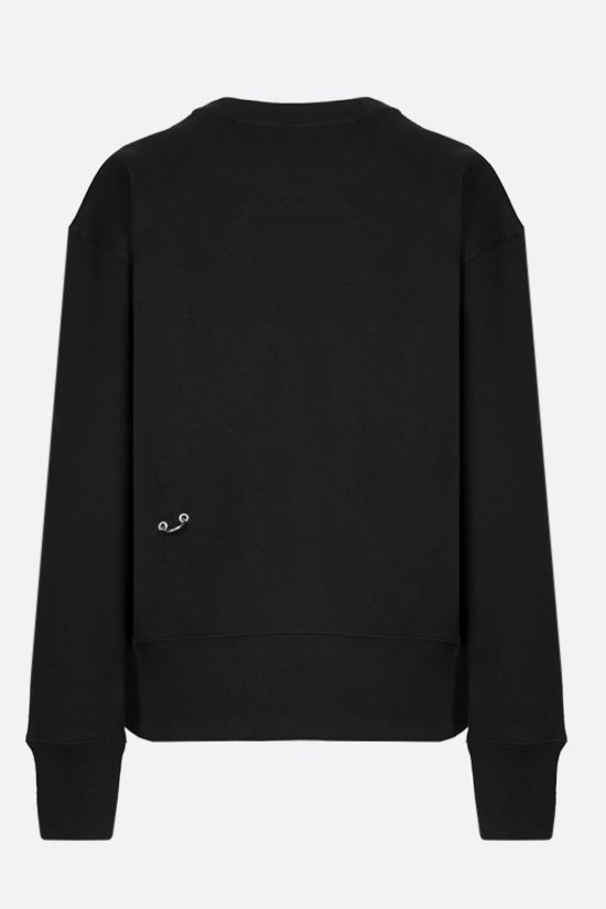 GIVENCHY: metal rings cotton sweatshirt Color Black_2