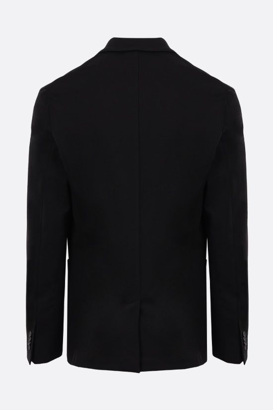 GIVENCHY: single-breasted technical jersey jacket Color Black_2