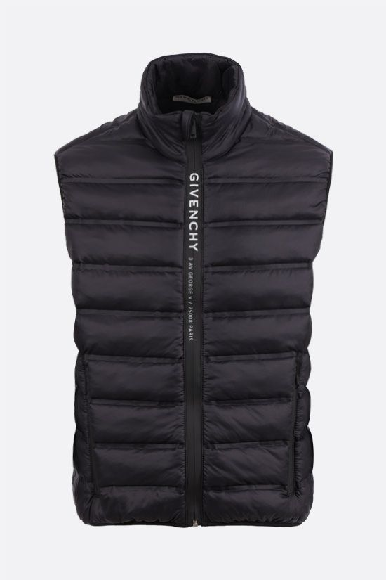 GIVENCHY: Adresse Givenchy band-detailed padded nylon vest Color Black_1