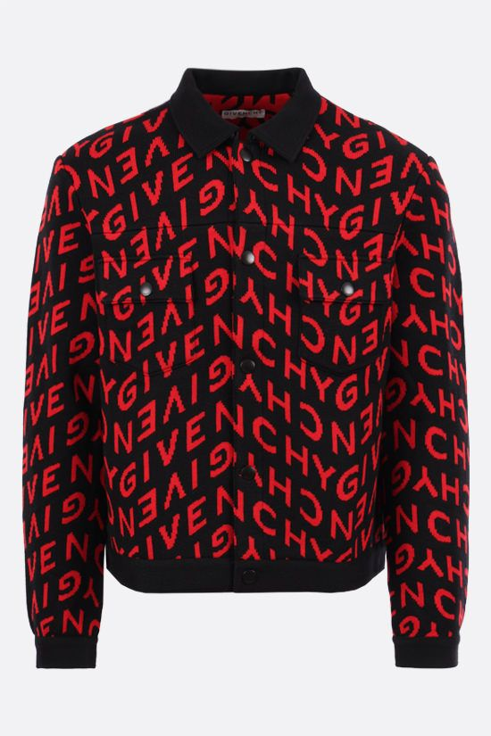 GIVENCHY: Givenchy Refracted motif wool overshirt Color Black_1