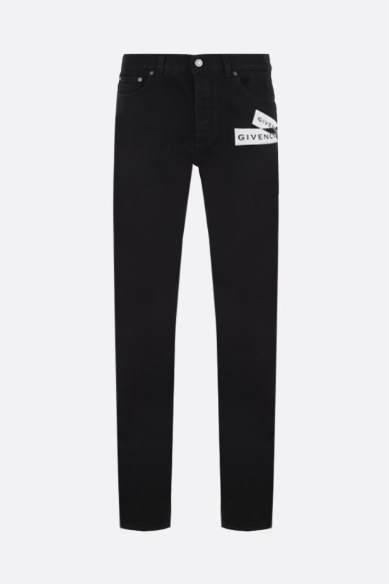 GIVENCHY: jeans slim-fit Givenchy Webbing Colore Nero_1
