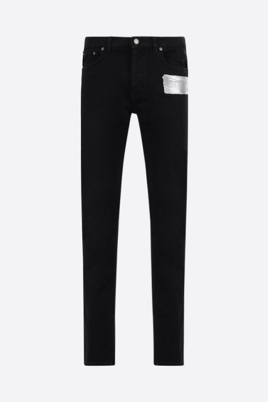 GIVENCHY: Givenchy logo-detailed skinny jeans Color Black_1