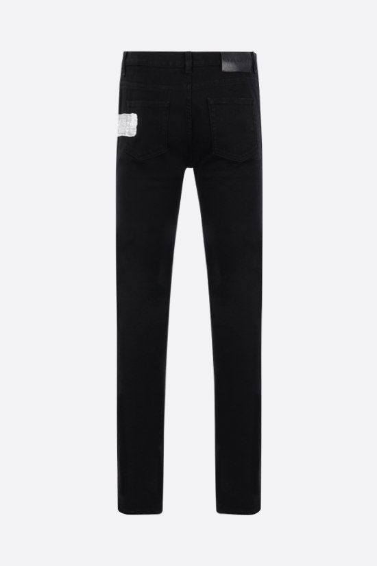 GIVENCHY: Givenchy logo-detailed skinny jeans Color Black_2