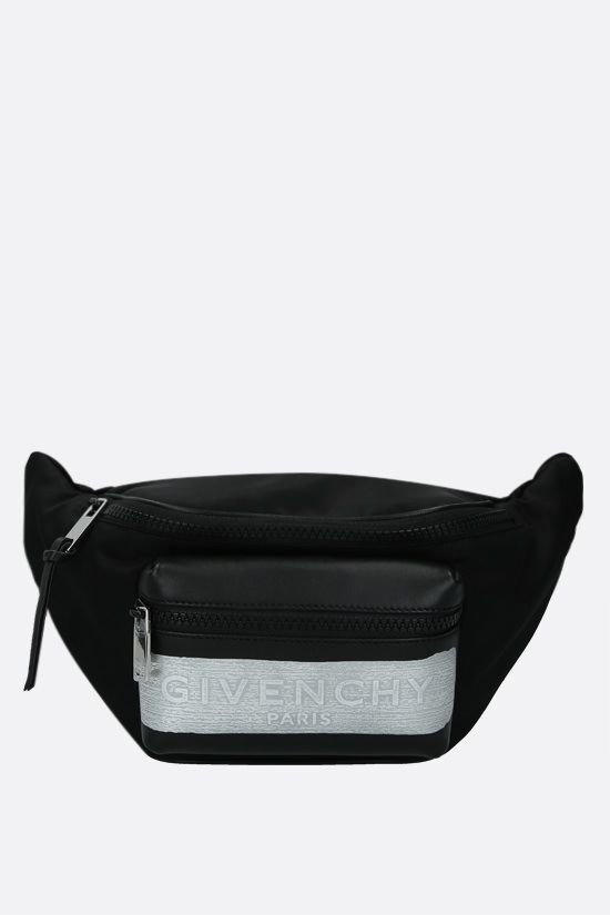 GIVENCHY: Light 3 nylon and smooth leather belt bag Color Black_1