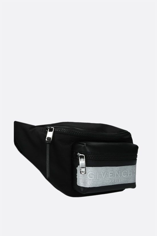 GIVENCHY: Light 3 nylon and smooth leather belt bag Color Black_2