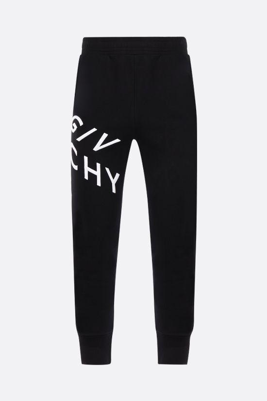 GIVENCHY: Givenchy Refracted cotton joggers Color Black_1