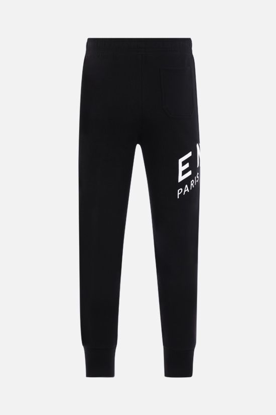 GIVENCHY: Givenchy Refracted cotton joggers Color Black_2